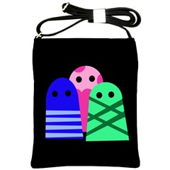 Three monsters Shoulder Sling Bags