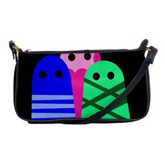 Three monsters Shoulder Clutch Bags
