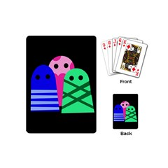 Three monsters Playing Cards (Mini)