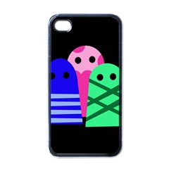 Three monsters Apple iPhone 4 Case (Black)