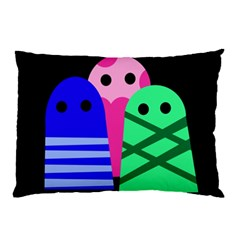 Three monsters Pillow Case (Two Sides)