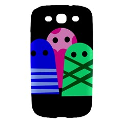 Three monsters Samsung Galaxy S III Hardshell Case