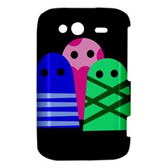 Three monsters HTC Wildfire S A510e Hardshell Case