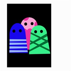 Three monsters Small Garden Flag (Two Sides)
