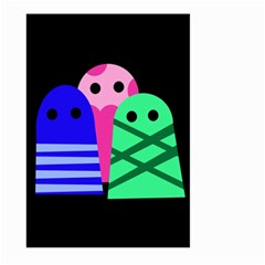 Three monsters Large Garden Flag (Two Sides)