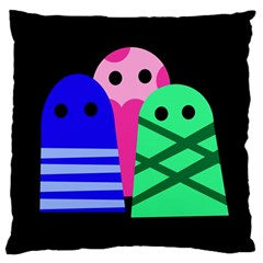 Three monsters Large Cushion Case (One Side)