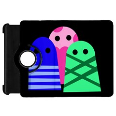 Three monsters Kindle Fire HD Flip 360 Case