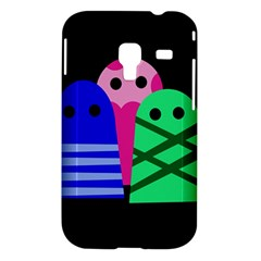 Three monsters Samsung Galaxy Ace Plus S7500 Hardshell Case