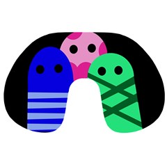 Three monsters Travel Neck Pillows
