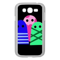 Three monsters Samsung Galaxy Grand DUOS I9082 Case (White)