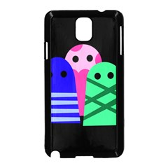 Three monsters Samsung Galaxy Note 3 Neo Hardshell Case (Black)