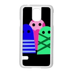 Three monsters Samsung Galaxy S5 Case (White)