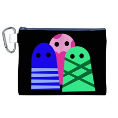 Three monsters Canvas Cosmetic Bag (XL)