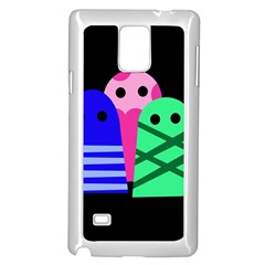 Three monsters Samsung Galaxy Note 4 Case (White)