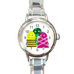 Three mosters Round Italian Charm Watch