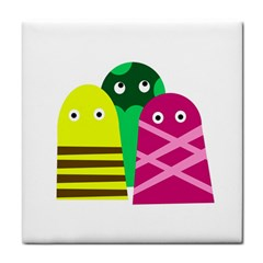 Three mosters Tile Coasters