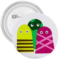 Three mosters 3  Buttons