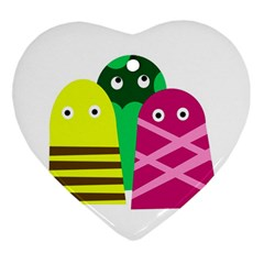 Three mosters Ornament (Heart)