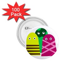 Three mosters 1.75  Buttons (100 pack)