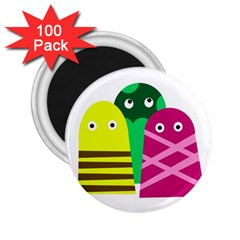 Three mosters 2.25  Magnets (100 pack)