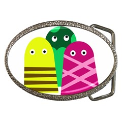 Three mosters Belt Buckles
