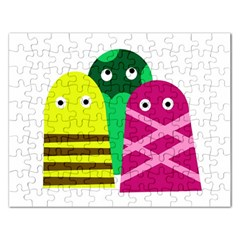 Three mosters Rectangular Jigsaw Puzzl