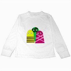 Three mosters Kids Long Sleeve T-Shirts
