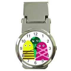 Three mosters Money Clip Watches