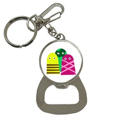 Three mosters Bottle Opener Key Chains