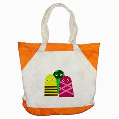 Three mosters Accent Tote Bag