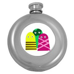 Three mosters Round Hip Flask (5 oz)