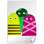 Three mosters Canvas 24  x 36  36 x24 Canvas - 1