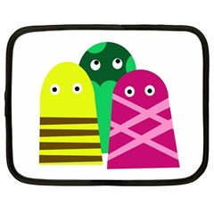 Three mosters Netbook Case (Large)