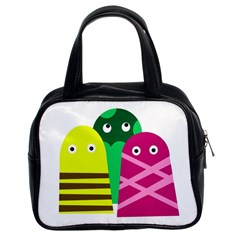 Three mosters Classic Handbags (2 Sides)