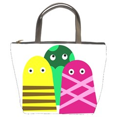 Three mosters Bucket Bags
