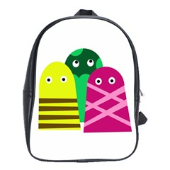 Three mosters School Bags(Large)