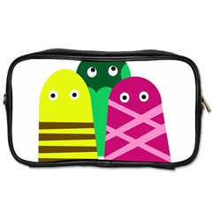 Three mosters Toiletries Bags 2-Side