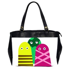 Three mosters Office Handbags (2 Sides)