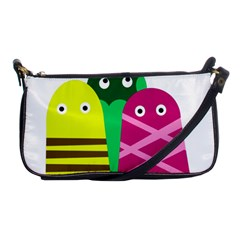 Three mosters Shoulder Clutch Bags