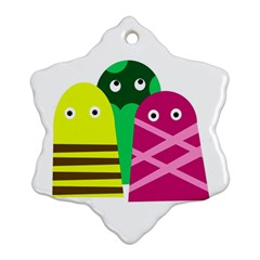 Three mosters Snowflake Ornament (2-Side)