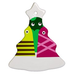 Three mosters Christmas Tree Ornament (2 Sides)