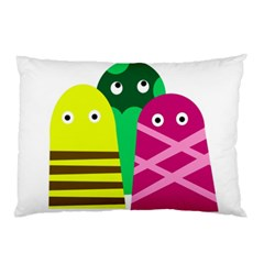 Three mosters Pillow Case (Two Sides)