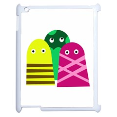 Three mosters Apple iPad 2 Case (White)