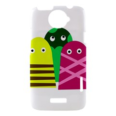 Three mosters HTC One X Hardshell Case