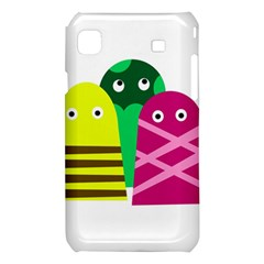 Three mosters Samsung Galaxy S i9008 Hardshell Case