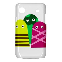 Three mosters Samsung Galaxy SL i9003 Hardshell Case