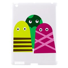 Three mosters Apple iPad 3/4 Hardshell Case (Compatible with Smart Cover)