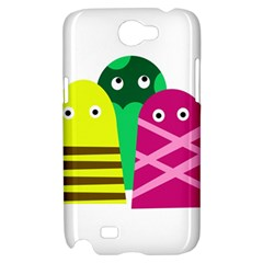 Three mosters Samsung Galaxy Note 2 Hardshell Case