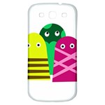 Three mosters Samsung Galaxy S3 S III Classic Hardshell Back Case Front