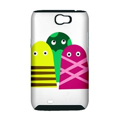 Three mosters Samsung Galaxy Note 2 Hardshell Case (PC+Silicone)